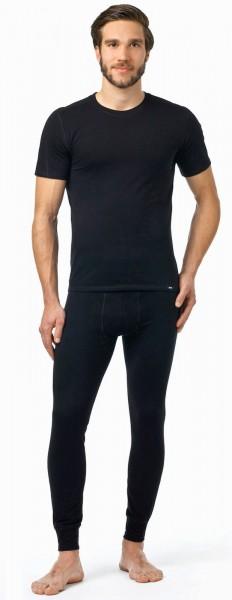 Pleas Thermo Unterhose lang Herren Funktionsunterwäsche Skiunterwäsche für Herren, schwarz