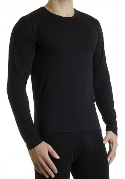 Pleas Thermo Shirt lang Herren Shirt mit langem Arm schwarz 101004-000