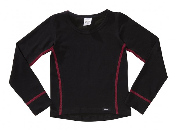 PLEAS Mädchen Thermo Shirt mit langem Arm, Thermounterhemd für Mädchen