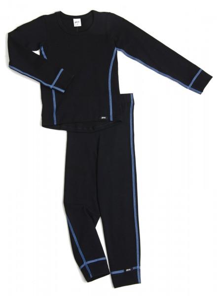 PLEAS Thermo Unterwäsche Set für Kinder - Jungen Thermo Funktionswäsche Skiunterwäsche Set-Copy
