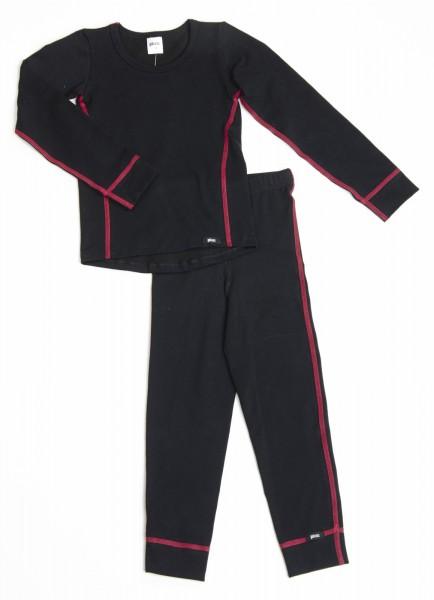 PLEAS Thermo Unterwäsche Set für Kinder - Mädchen Thermo Funktionswäsche Skiunterwäsche Set
