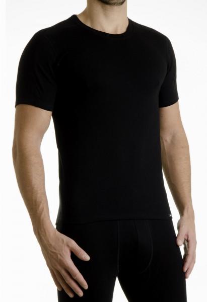Pleas Thermo Unterhemd Herren mit halbem Arm schwarz
