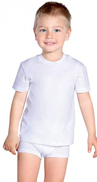 PLEAS boys undershirt without arms white 081021-100