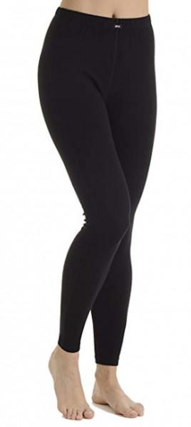 Pleas Damen Thermo Unterhose lang, schwarz 101007-000