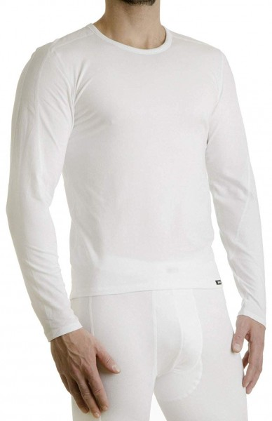 Pleas Thermo Shirt lang Herren Shirt mit langem Arm weiss 101004-100